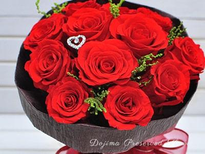 赤バラのクリスマスプロポーズ花束