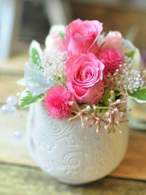 いい夫婦の日 ピンク プリザーブドフラワー