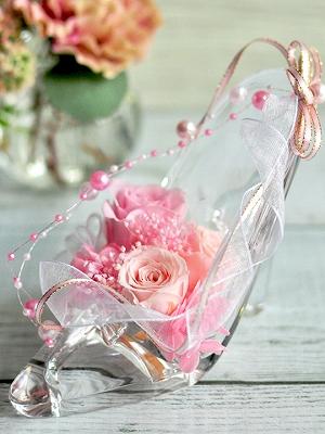 プロポーズ ガラスの靴 プリザーブドフラワー