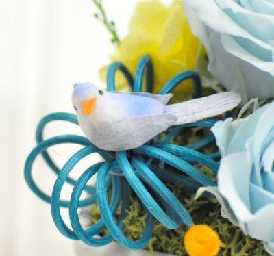 青い小鳥の飾り1羽