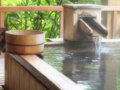 お昼間の露天風呂
