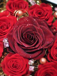 赤いバラのプリザーブドフラワー
