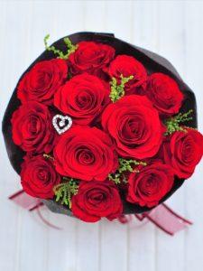 プロポーズ プリザーブドフラワー 赤バラ