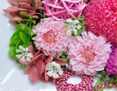ピンクのダリアのプリザーブドフラワー