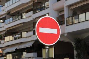 通行禁止のマーク