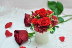 真っ赤なバラのプリザーブドフラワー