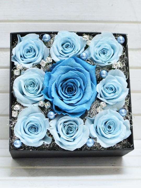 青いダイヤモンドローズ
