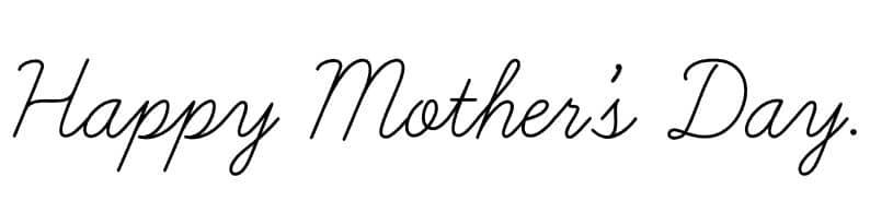Happy Mother's Dayの筆記体での表記イメージ