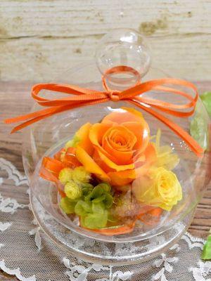 ガラスドーム オレンジ