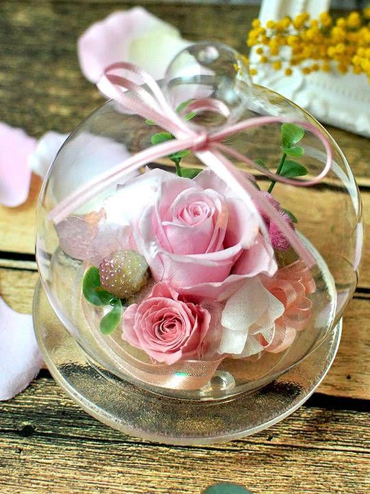 ガラスドーム シャーベットピンク