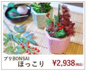 プリザーブドフラワーの盆栽