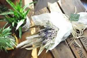 大阪 ドライフラワー ラベンダーの花束